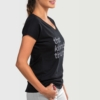 Womens-T-shirt-V-Neck-That-Kizomba-Though-Black-1973