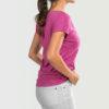 Womens-T-shirt-V-Neck-That-Kizomba-Though-Heather-Rasberry-2140
