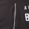Mens-T-shirt-Always-Repin-Bachata-Black-Zipper-Closeup